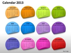 Calendar 2013 Month PowerPoint Slides Ppt Templates