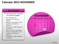 Calendar 2013 November PowerPoint Slides Ppt Templates