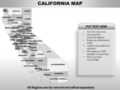 California PowerPoint Maps