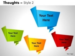 Callouts Thoughts 2 PowerPoint Slides And Ppt Diagram Templates