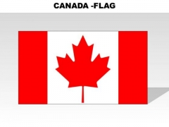 Canada Country PowerPoint Flags