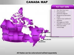 Canada PowerPoint Maps