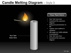 Candle Match Stick PowerPoint Templates