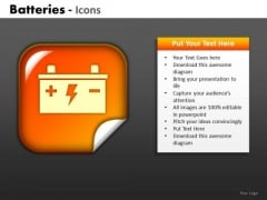 Car Battery Icon PowerPoint Slides