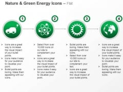 Car Nuclear Energy Symbol With Sun And Globe For Green Energy Ppt Slides Graphics