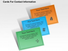 Cards For Contact Information PowerPoint Template