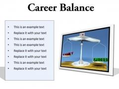 Career Family Balance Business PowerPoint Presentation Slides F