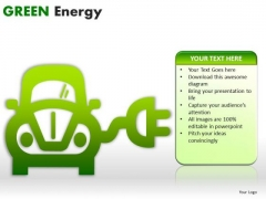 Cars Green Energy PowerPoint Slides And Ppt Diagram Templates