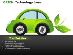 Cars Green Technology Icons PowerPoint Slides And Ppt Diagram Templates