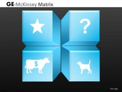 Cash Cow Dog Question Mark Ge Mc Kinsey Matrix PowerPoint Templates