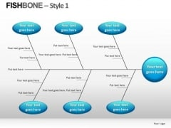 Cause Analysis Fishbone Diagram PowerPoint Slides