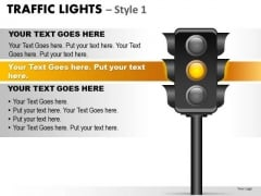 Caution Traffic Light PowerPoint Slides And Ppt Diagram Templates