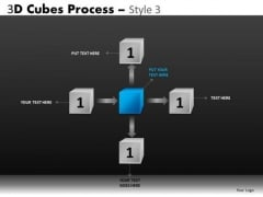 Center Stage Flow Process Diagram Ppt
