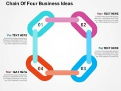 Chain Of Four Business Ideas PowerPoint Templates