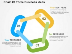 Chain Of Three Business Ideas PowerPoint Templates