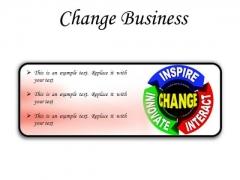 Change Business PowerPoint Presentation Slides R