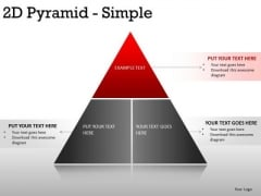Chart 2d Pyramid Simple PowerPoint Slides And Ppt Diagram Templates