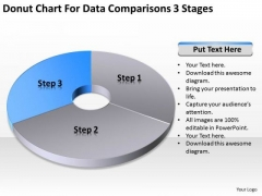 Chart For Data Comparisons 3 Stages Ppt Business Plan PowerPoint Templates