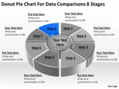 Chart For Data Comparisons 8 Stages Ppt Sample Business Plan Restaurant PowerPoint Templates