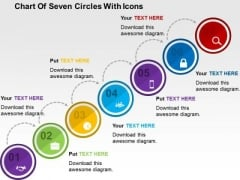 Chart Of Seven Circles With Icons PowerPoint Template