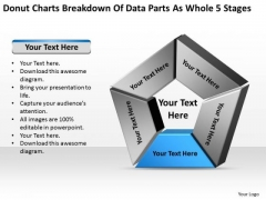 Charts Breakdown Of Data Parts As Whole 5 Stages Personal Business Plan PowerPoint Slides