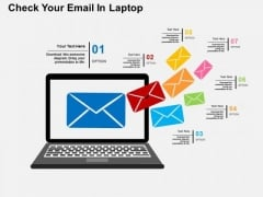 Check Your Email In Laptop PowerPoint Template