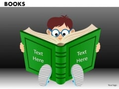 Child Reading Book School PowerPoint Ppt Templates