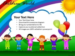 Children Playing PowerPoint Slides And Ppt Diagram Templates
