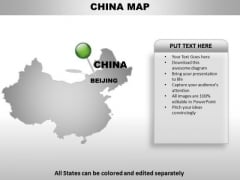 China Country PowerPoint Maps