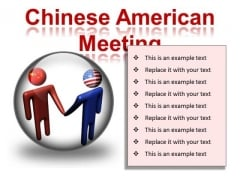 Chinese American Meeting Business PowerPoint Presentation Slides C