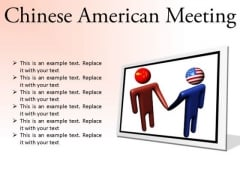 Chinese American Meeting Business PowerPoint Presentation Slides F