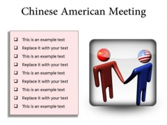 Chinese American Meeting Business PowerPoint Presentation Slides S