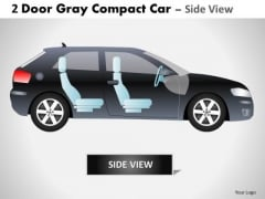 Chrome Classic 2 Door Gray Car Side PowerPoint Slides And Ppt Diagram Templates
