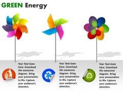 Circle Charts Green Energy PowerPoint Slides And Ppt Diagram Templates