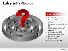 Circle Circular Labyrinth Circular PowerPoint Slides And Ppt Diagram Templates