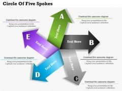 Circle Of Five Spokes PowerPoint Template