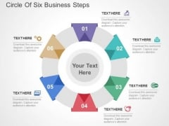 Circle Of Six Business Steps PowerPoint Templates