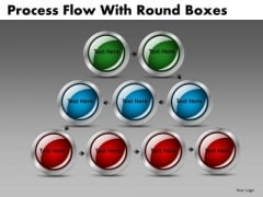 Circle Stages Process Flow PowerPoint Slides Downloads