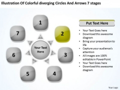 Circles And Arrows 7 Stages Relative Circular Flow Network PowerPoint Templates