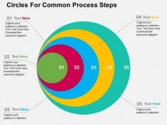 Circles For Common Process Steps PowerPoint Templates