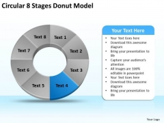 Circular 8 Stages Donut Model Business Plan PowerPoint Template
