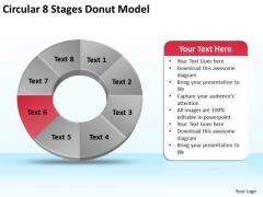 Circular 8 Stages Donut Model Business Plan PowerPoint Templates