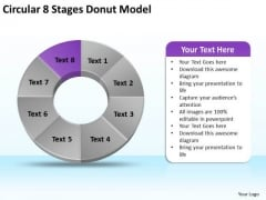 Circular 8 Stages Donut Model Business Plan Samples PowerPoint Templates