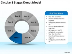 Circular 8 Stages Donut Model Subway Business Plan PowerPoint Slides