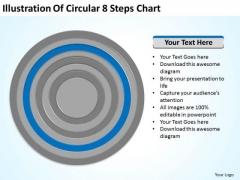 Circular 8 Steps Chart Ppt Executive Business Plan Template PowerPoint Slides
