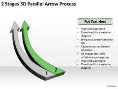 Circular Arrow PowerPoint 2 Stages 3d Parallel Process Ppt Slides