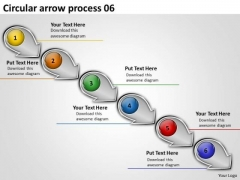 Circular Arrow Process PowerPoint Flow Chart Slides