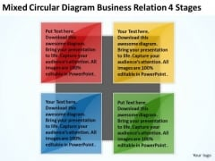 Circular Diagram Business Relation 4 Stages Ppt Writing Small Plan PowerPoint Slides