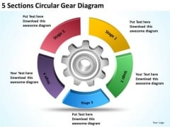 Circular Gear Diagram Example Of Executive Summary For Business Plan PowerPoint Slides