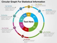 Circular Graph For Statistical Information PowerPoint Template